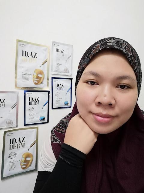 ID.AZ Fit-Mask | Menegangkan, melambabkan dan mencerahkan kulit wajah serta tips agar wajah kelihatan natural.