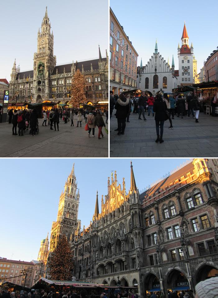 Marienplatz y Rinderplatz, Munich guía de viaje, Bavaria, Christmas markets, Germany