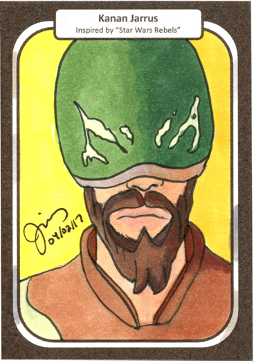 Kanan Jarrus Sketch Card