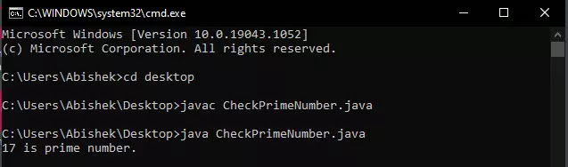 Check prime Number
