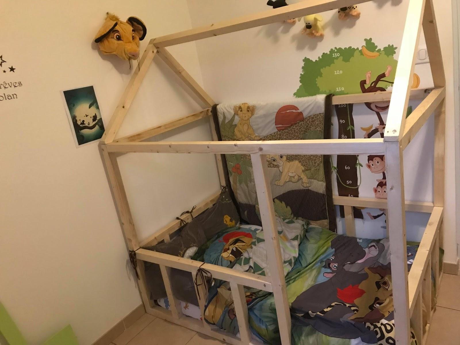 Lit Cabane Maman Louve bricotransferts de pascale: un lit cabane sur mesure pour