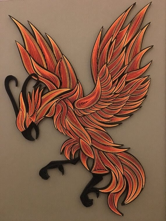 09-Phoenix-Bird-Tatiana-People-and-Animal-Portraits-plus-Flower-Quilling-www-designstack-co