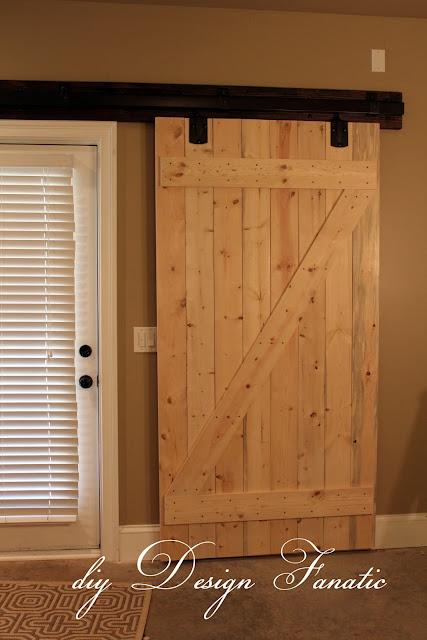 Diy design fanatic diy barn doors for Building door design