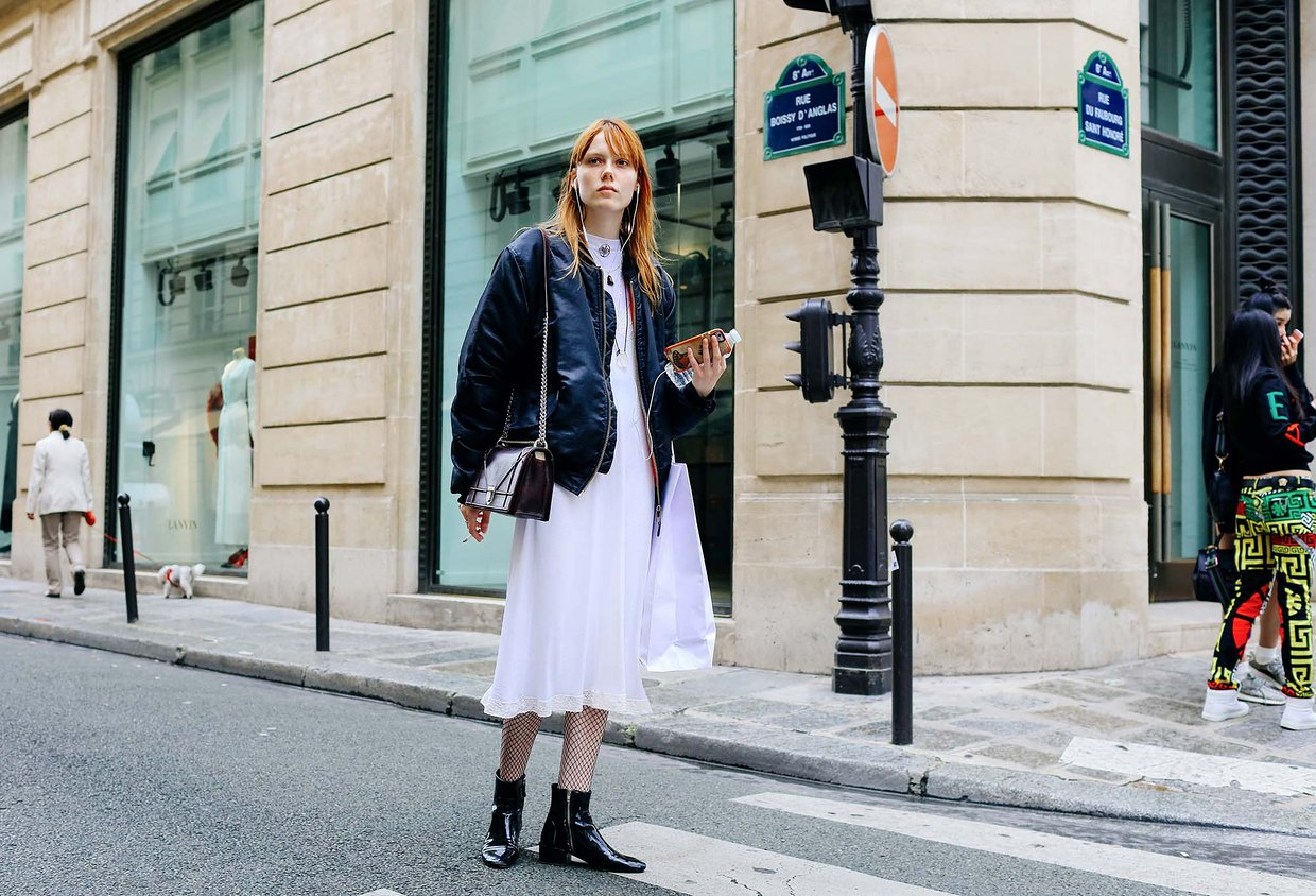 Street Style: Kiki Willems in White & Leather