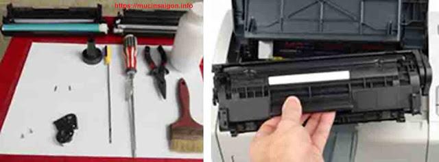 thay mực máy in Hp laser P1102