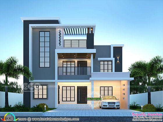 5 bedrooms 2770 sq. ft. Duplex modern home design