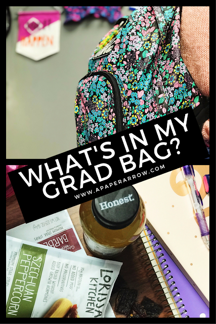 #cbias, grad bag, graduate school, what's in my bag