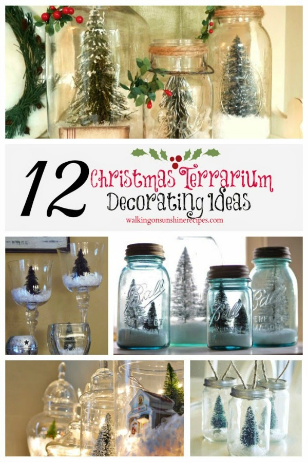 Christmas Terrariums Decorating Ideas from Walking on Sunshine Recipes
