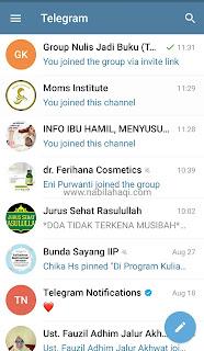 Beberapa Rekomendasi channel Telegram untuk ibu rumah tangga