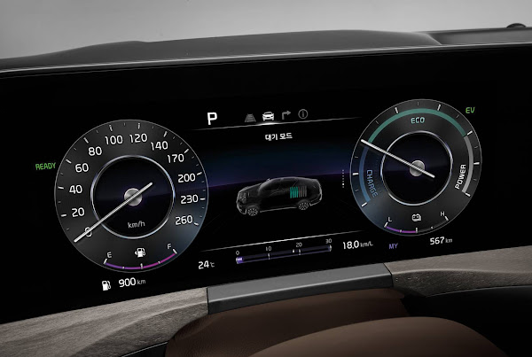Kia K8, sucessor do Cadenza, ganha versão híbrida plug-in na Coréia