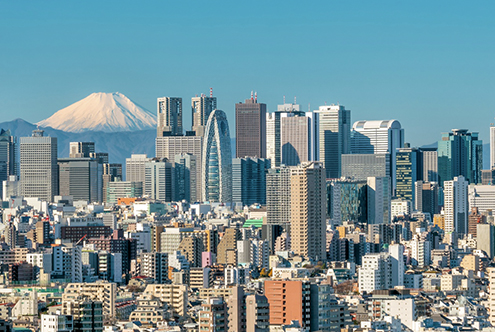 mount-fuji-and-tokyo-skyline-tokyo-japan-cocoon-tower-tange-architects-architecture-buildings-skyscrapers-cities