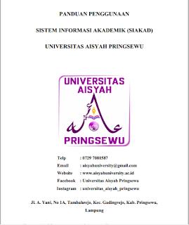 Panduan Penggunakan SIAKAD Universitas Aisyah Pringsewu