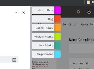 Listado de etiquetas: Nice to Have, Bug, Priorities.