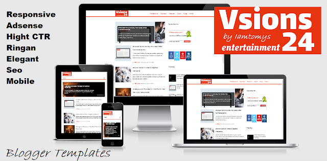 Vsions 24  Sports & Entertainmen, Responsive Blogger Template