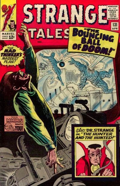 Strange Tales #131, The Human Torch, the Thing and the Mad Thinker