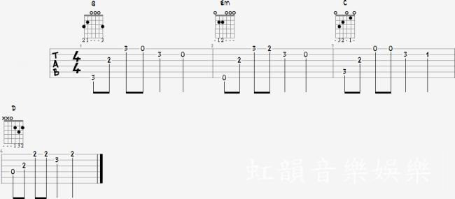 【虹韻音樂娛樂】- 吉他 & 烏克麗麗 : 【溫柔 - 五月天】- 和弦譜 - 吉他譜 - 烏克麗麗譜 - 簡易彈唱