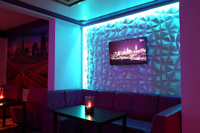 3d panels for walls with television and lighting