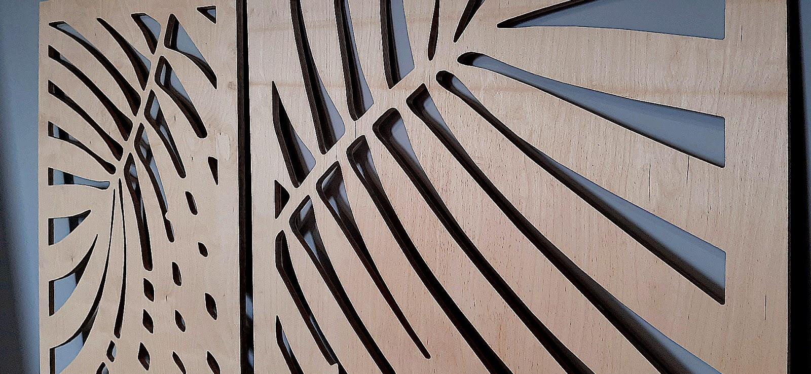 Panel dekoracyjny wycinany cnc ze sklejki