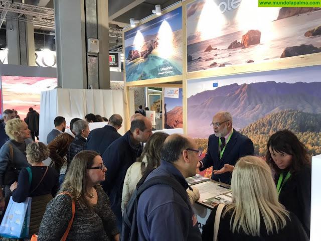Turismo La Palma apuesta por la promoción de  'La Isla Bonita' en la feria BIT de Milán en busca de mercados europeos en crecimiento