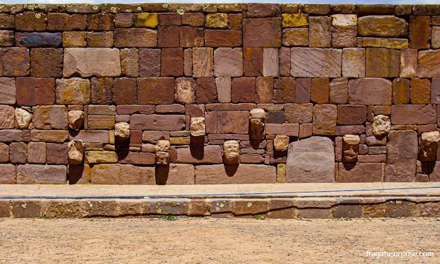 Templo de Kalasasaya, sítio arqueológico de Tiwanaku, Bolívia