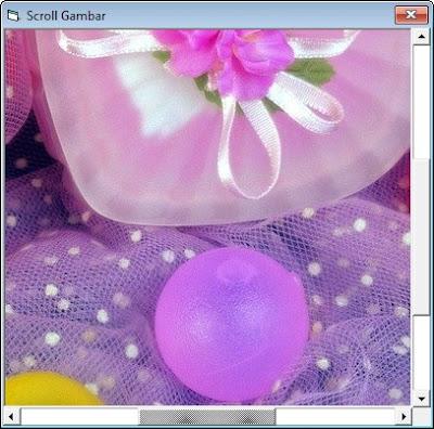 Menggerakan Gambar Memakai Hscrollbar Dan Vscrollbar