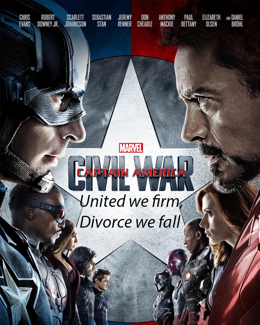 Bersatu kita Teguh, Bercerai kita runtuh a.k.a United we stand, devided we fall asal jangan bersatu kita teguh, bercerai kita kawin lagi