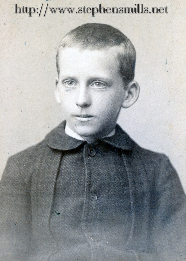 Photo of Archie Dustin Felt age 12  Born 6/8/1876 in Woodstock, Maine  Died  11/30/1929 in Woodstock Maine  Son of  Alonzo Felt 1833-1903  and Emily Bryant  1843-1927