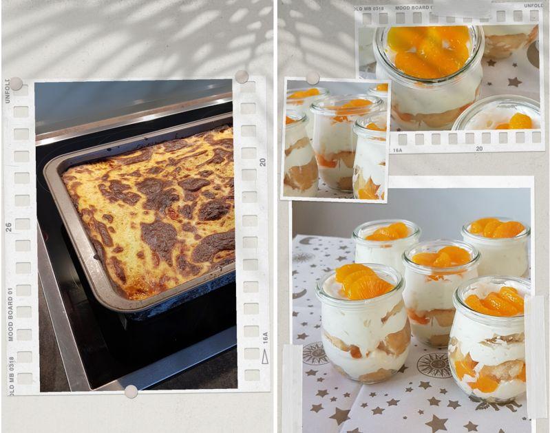 Genuß: Moussaka und Orangen-Mascarpone-Creme mit Contreau