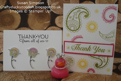 Stampin' Up! UK Independent  Demonstrator Susan Simpson, Craftyduckydoodah!, Paisleys & Posies, May 2017 Coffee & Cards Project, Supplies available 24/7 from my online store,