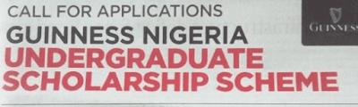 Guinness Nigeria 2018/2019 Scholarship Scheme For Nigerians