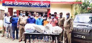 चेकिंग के दौरान चार पहिया वाहन से एक कुंतल गांजा बरामद, चार आरोपी गिरफ्तार   #NayaSaberaNetwork