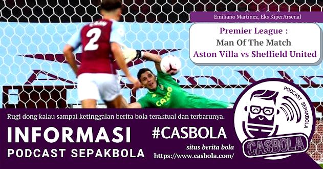 man of the match aston villa vs sheffield united