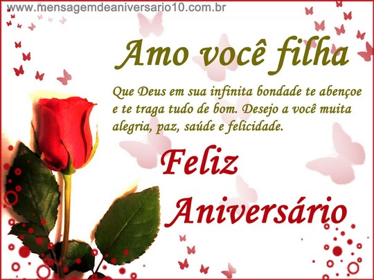 Mensagem De Aniversario Para Filha: Feliz Aniversário, Filha