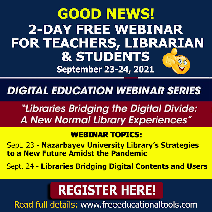DICT 2-Day Free Webinar for Teachers, Librarian and Students | September 23-24 | Libraries Bridging the Digital Divide: A New Normal Library Experience
