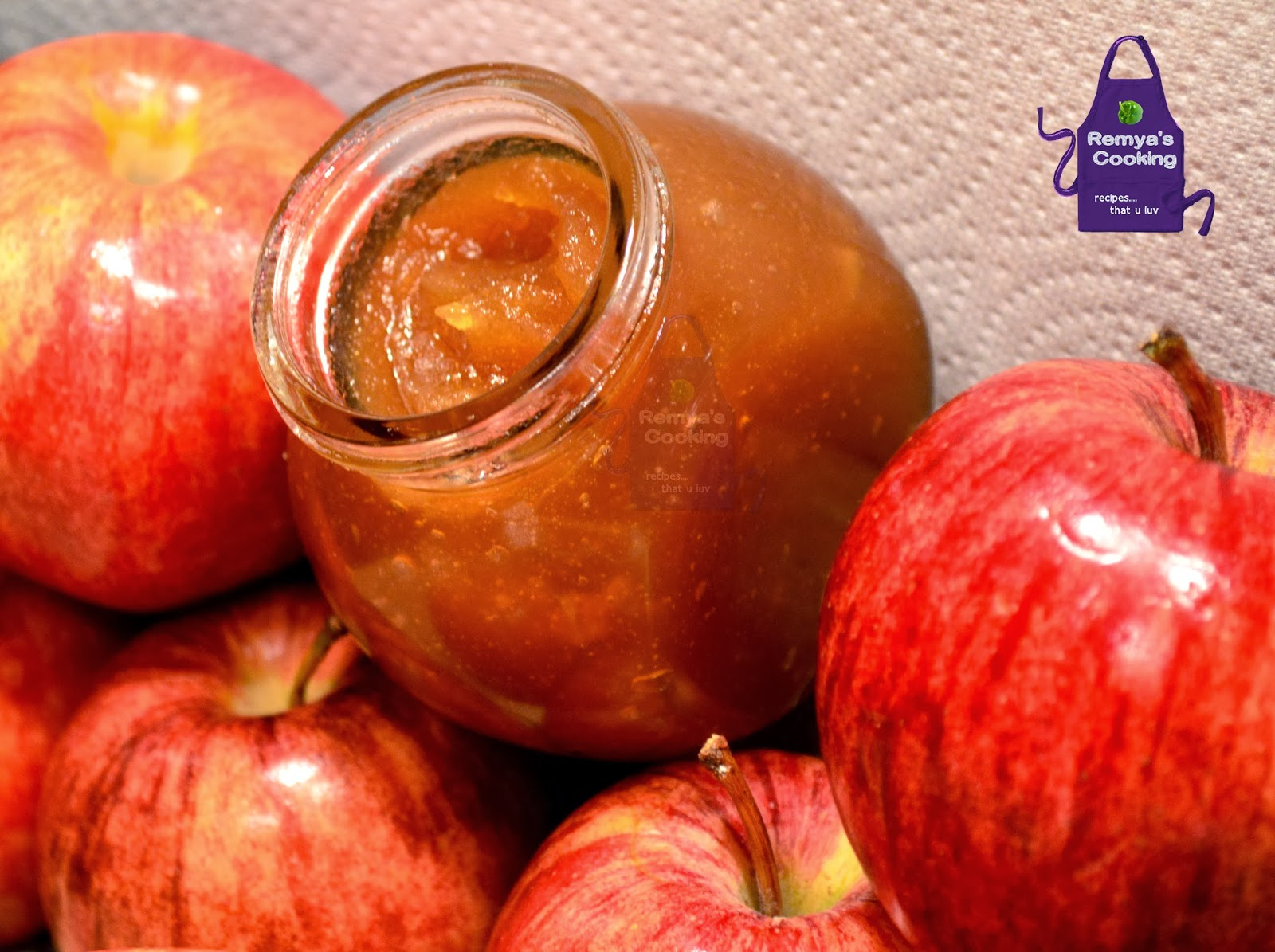 Apple Jam recipe Remya's Baking