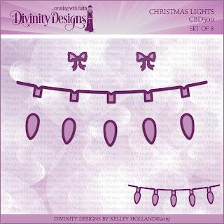Custom Die: Christmas Lights