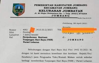 Heboh! Kades Minta THR Pada Sejumlah Pengusaha di Jombang