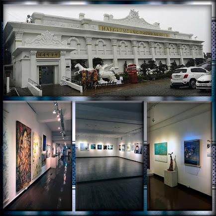 Vistas del Museo Temático de Haegumgang en Geoje (Corea del Sur), en donde expone Ramón Rivas
