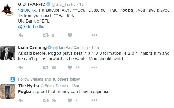 Social media roast Paul Pogba over disappointing United vs City performance