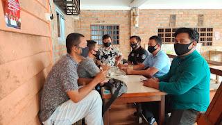Sat Itelkam Polres Lingga Coffe morning Bersama Mahasiswa GMNI Cabang Kabupaten Lingga