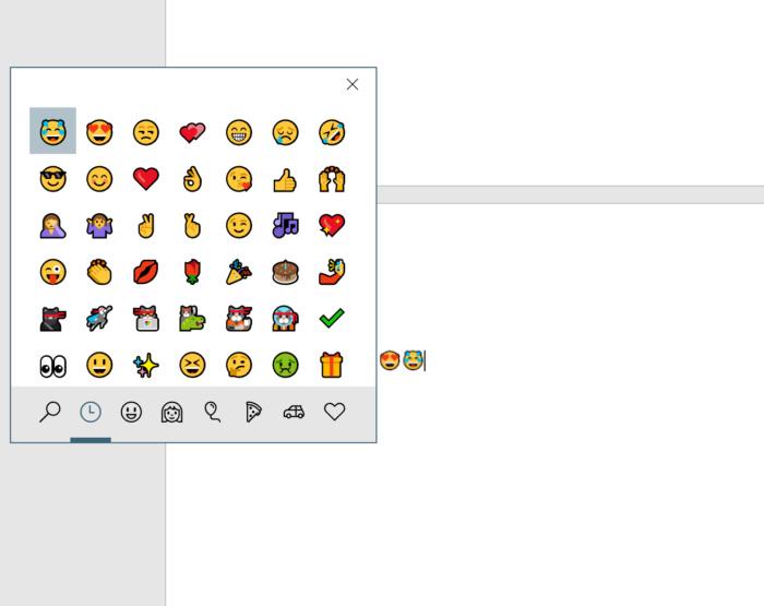 كيف تظهر لوحة الايموجي المدمجه في الويندوز 10