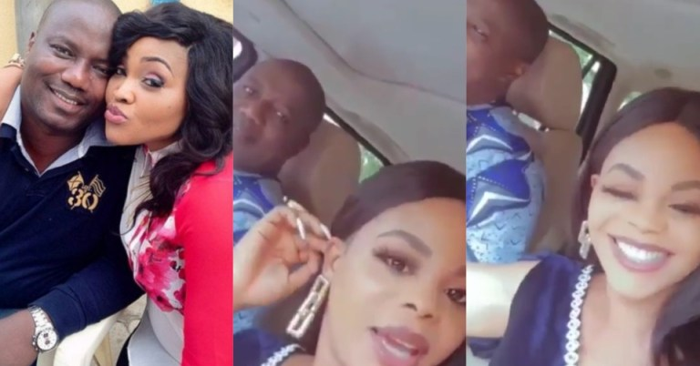 Lanre Gentry, the ex-husband of actress Mercy Aigbe, shows off his new lover (Video)