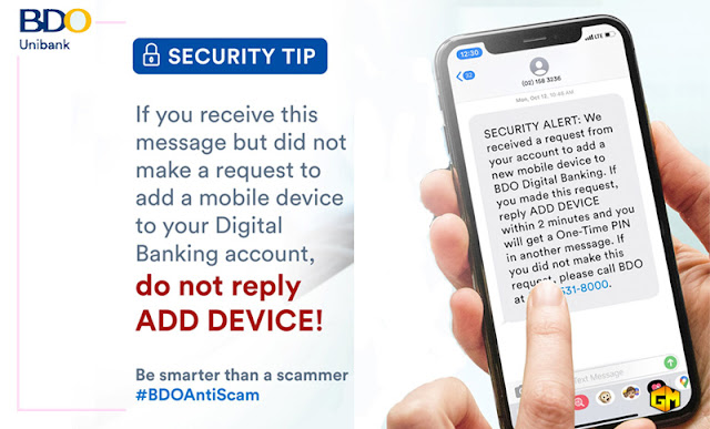 BDO Anti Scam tips Gizmo Manila