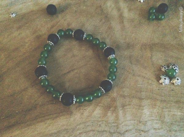 Bracelet en pierre d'aventurine et ses perles de lave My Roller Stone