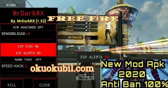 Free Fire v1.52.1 MrDarkRX Vıp Cracked Mod Menü, Otomatik Kulaklık No Root  No Ban 2020