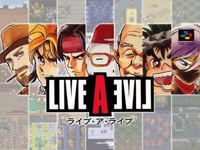 Live A Live Super Famicom box artwork protagonists