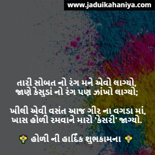 Happy Holi Message in Gujarati