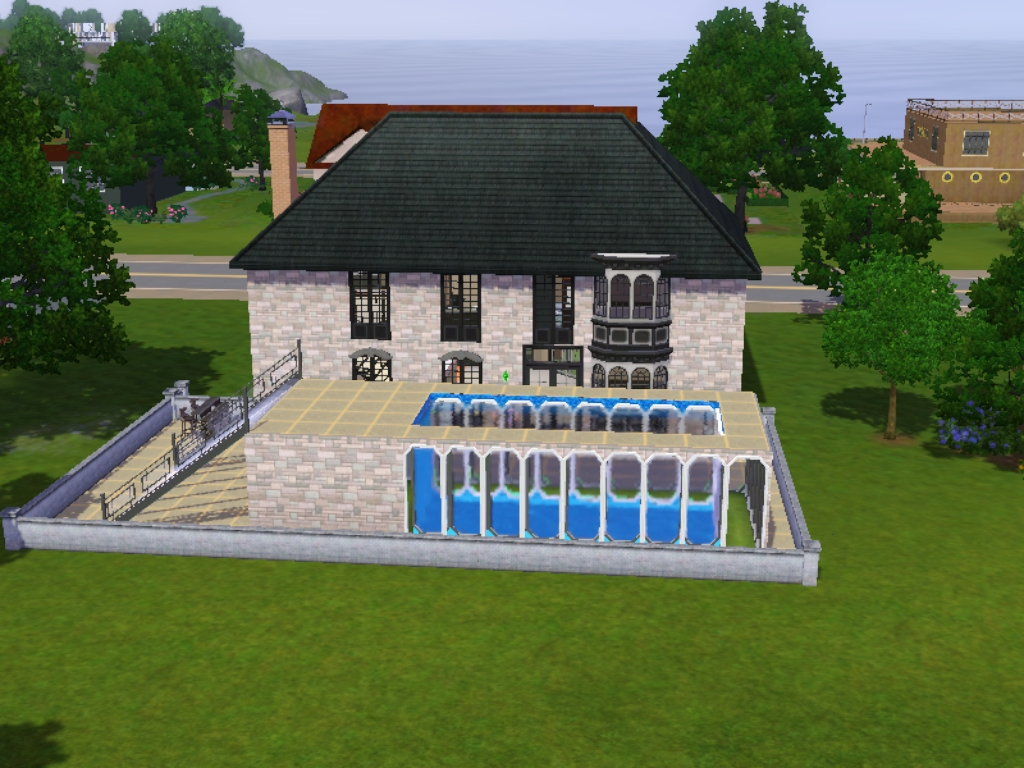 A simulated life sims 3 above ground swimming pool for Pool design sims 3
