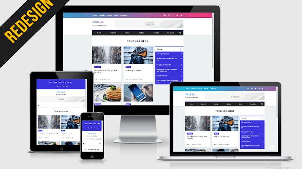 Viral Go Redesign Premium Blogger Template
