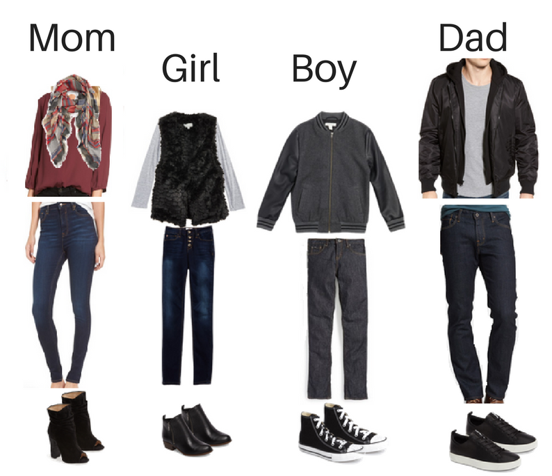 3 Complete Casual Family Outfits For Your Pictures This Year